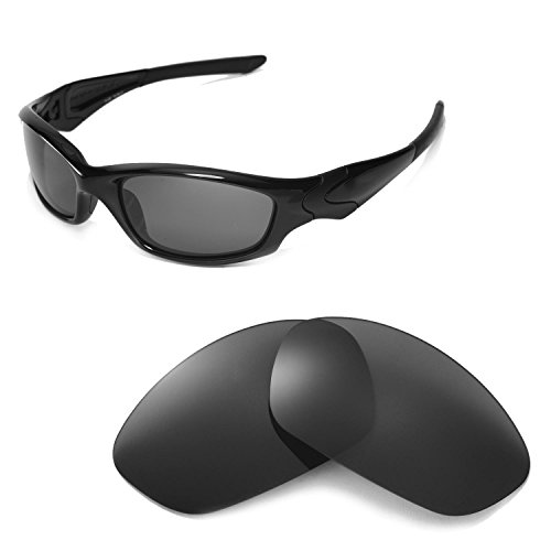 Walleva Replacement Lenses Or Lenses With Rubber for Oakley Straight Jacket Sunglasses - 41 Options Available(Black - Polarized) (Oakley Straight Jacket Lens)