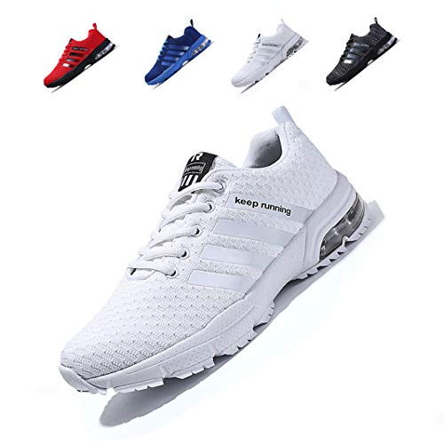 ZIITOP Uomo Scarpe da Sportive Corsa Running Sport Sneaker Casual Outdoor Tennis Scarpe da Ginnastica Fitness Interior Casual all'Aperto White-87