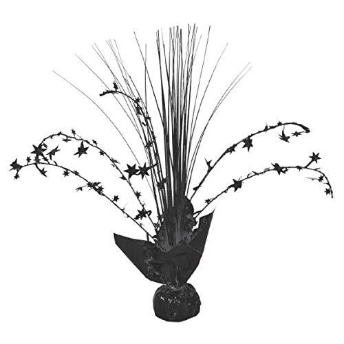 Foil Centerpiece - Foil Spray Centerpiece | Jet Black | Party Decor | 12 Ct.