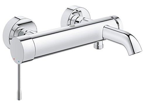 Grohe 33624001 Essence Wannenarmatur für die Wandmontage, integrierter Rückflussverhinderer