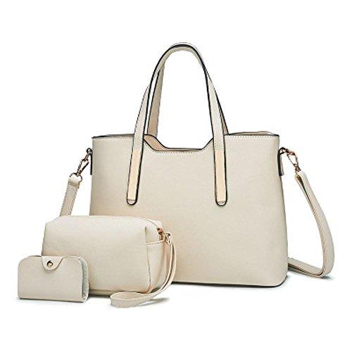 Penao vueltas moda señora 33cmx13cmx24cm simple de tamaño cien White bolso de Hombros Retro bandolera qtzrq
