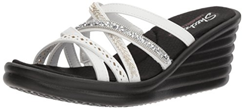 New Skechers White Lassie Women's Rumbler Wave Wedges B0txAw0qr