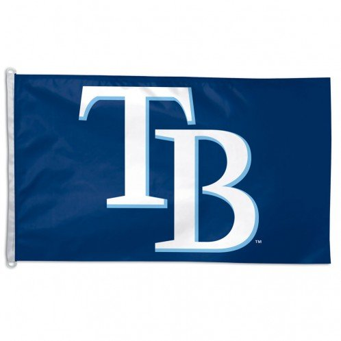 MLB Tampa Bay Devil Rays 3-by-5 foot Flag - Tampa Bay Devil Rays Team Colors