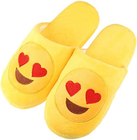 f25bb2a69e9 Unisex Warm Winter Slippers Emoji Cute Cartoon Soft Indoor House Bedroom  Shoes With Memory Foam For