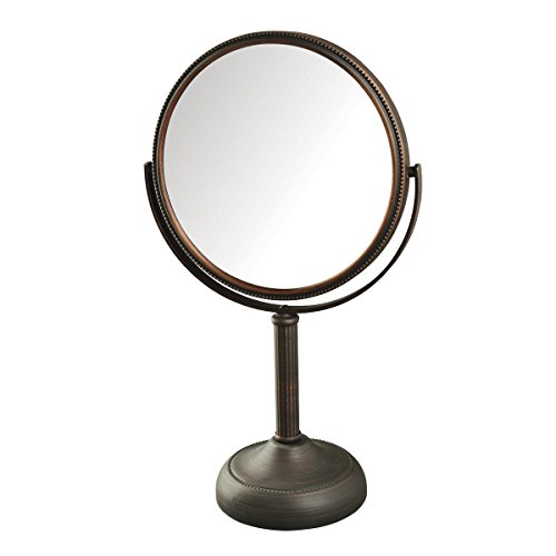 Makeup Mirror 10x (Jerdon JP918BZB 1X and 10X Magnified Table Top Mirror, Bronze Finish, 44 Ounce)