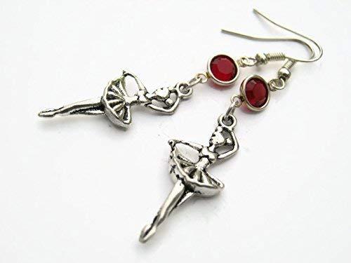 Ballerina Birthstone Earrings, Personalized Ballet Earrings, Athletic Earrings, Ballet Jewelry, Dance Jewelry