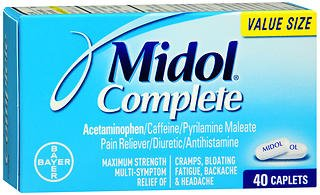 Midol Complete Maximum Strength Pain Reliever Caplets 40 Ea  Pack Of 2