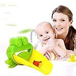 Creativo-rubinetto-flessibile-extender-lavello-maniglia-estensione-bambino-bambino-plastica-bagno-bambini-lavaggio-a-mano-aiutante-verde
