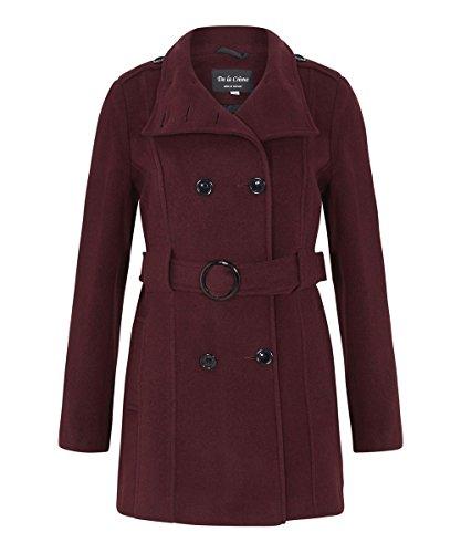 Anastasia En Bourgogne Laine Pour Manteau D'hiver Femmes rr74Fwgqx