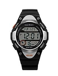 TOPCABIN Fashion Students Watch Waterproof Watch Outdoor Military Watches Wristwatch Black
