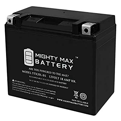 Mighty Max Battery YTX20L-BS Replacement Battery for Honda 1800 CC GL1800 Gold Wing 01-09 Brand Product