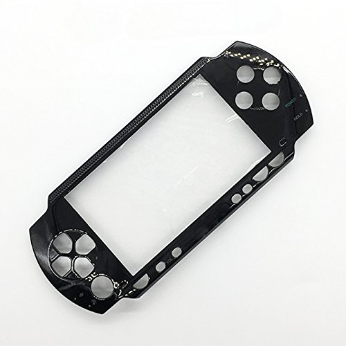 Front Face Plate Faceplate Shell Case Cover Replacement For Sony PSP 1000 1001 Fat (Black)