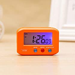 Alarm Clocks - Mini Pocket Digital Electronic Travel Alarm Clock Automotive Stopwatch Lcd With Snooze Backlight - Star Manual Voice Small Mint Alarm Antique Digital Cute Echo Folding Kids Ones