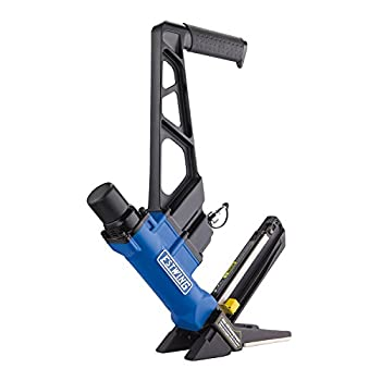 Image of Estwing EFL50Q Pneumatic 2-in-1 15.5-Gauge and 16-Gauge 2' Flooring Nailer and Stapler Ergonomic and Lightweight Nail Gun for Hardwood Flooring with Interchangeable Base Plates, No-Mar Feet and Mallet Home Improvements