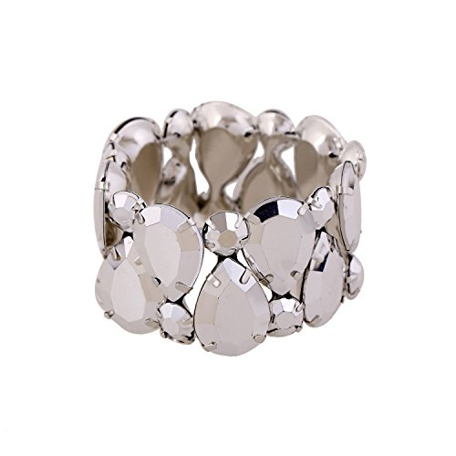 D EXCEED Womens Sparkle Crystal Bling Bangle Stretch Bracelet 7