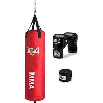 c90b113467f Image Unavailable. Image not available for. Color  Everlast 70 lb MMA Heavy  Bag Kit ...