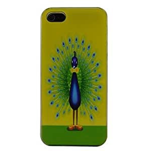 QHY A Beautiful Peacock Pattern PC Back Case for iPhone 5