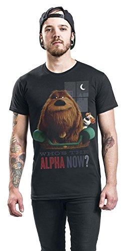 The Secret Life of Pets Alpah Now Männer T-Shirt Schwarz