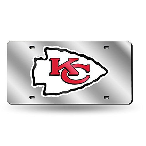 Rico Industries NLF Kansas City Chiefs Laser-Cut Auto Tag