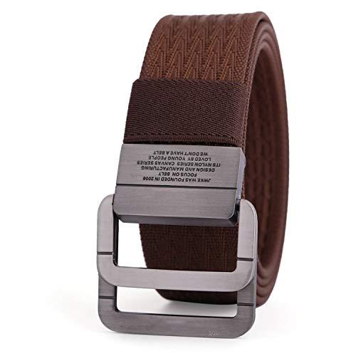 69 Belt Lock - 2018 Military Equipment Tactical Belt Man Double Ring Buckle Thicken Canvas Belts for Men Waistband MU035,Dark brown,100cm