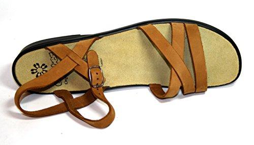 mujer Marron Sandalias Ganter marrón Cognac para de vestir qxI7T7Y6