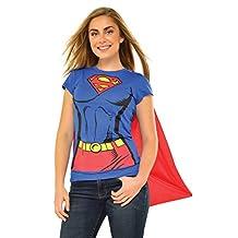 Rubies Costume DC Comics Super-Girl T-Shirt with Cape