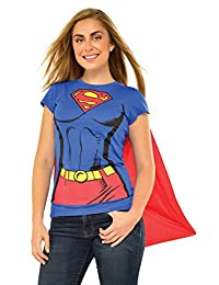 Rubies Costume DC Comics Super-Girl T-Shirt with Cape