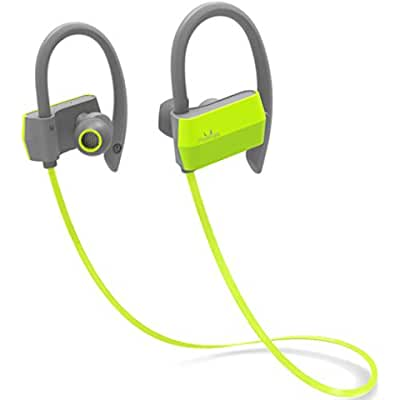 Mailiya Wireless Sport Bluetooth Headphones Sweatproof Stable Fit In Ear Earbuds Ergonomic Ear Hook Headset Noise...