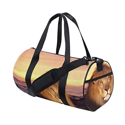 Sports Bag Leo Lion Mens Duffle Luggage Travel Bags Kid Lightweight Gym bag