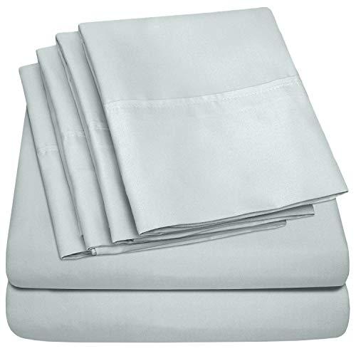 Queen Sheets Blue Porclain - 6 Piece 1500 Thread Count Fine Brushed Microfiber Deep Pocket Queen Sheet Set Bedding - 2 Extra Pillow Cases, Great Value, Queen, Porclain Blue