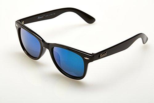 Vente rivacci lunettes de soleil homme femme wayfarer for Lunette soleil verre bleu miroir