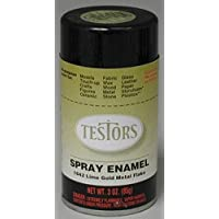 Lime Gold Metal Flake Enamel Paint 3oz Spray Can by Testor Corp.