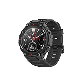 Image of Amazfit T-Rex Smartwatch with12 Military Certifications,20-Day Battery Life,Tough Body,1.3'' AMOLED Display,5 ATM Water-Resistant,14 Sports Modes, Rock Black Smartwatches