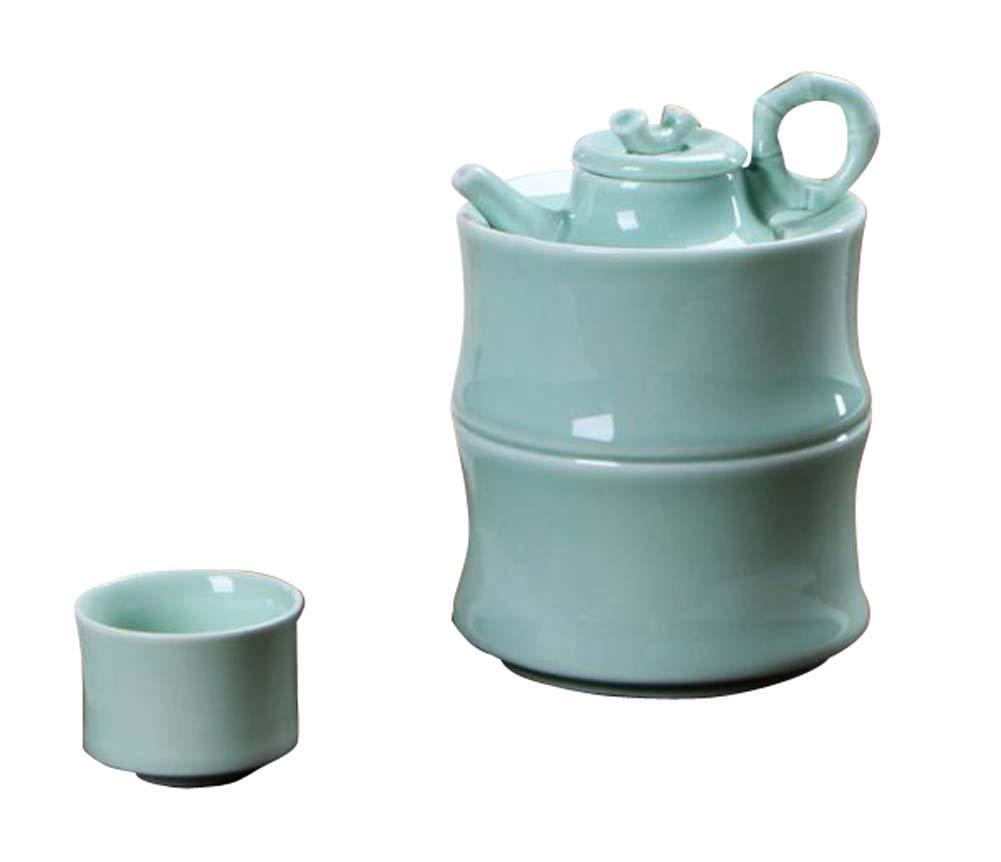 DRAGON SONIC Warm Wine Pot Set, Ceramic Sake Set, Wine Separator, E01
