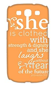 Bible Quote Proverbs 31:25 Samsung Galaxy S3 I9300 Case Cover