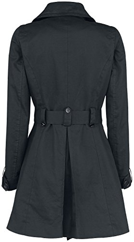 Abrigo Cotton Trenchcoat Negro Negro ForPlay Mujer OBaqfxwSn