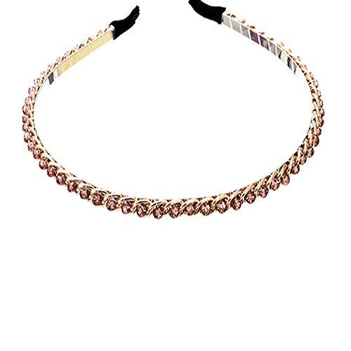 Girls Headband Metal Shiny Hair Hoop Headwear Hairbands Hair Accessories for Womens Princess Ladies Hair Band Headdress,gold 2 -