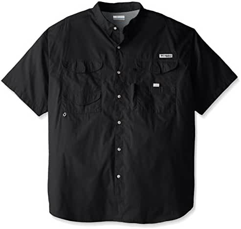 Columbia Men's Bonehead Short Sleeve Shirt, Black, L