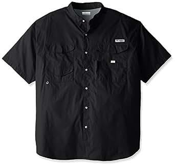 Columbia Men's Bonehead Short Sleeve Fishing Shirt (Black, 1X)