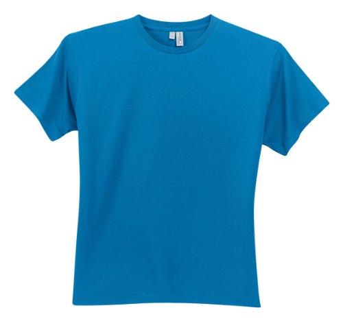 Perfect Weight Crew Neck Tee - District Threads Men's Perfect Weight Crewneck T-Shirt_Bright Turquoise_L