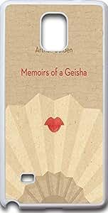 Samsung galaxy note 4 case quotes Dseason ,Fashion printing series,High quality hard plastic material arthur golden memoirs of a geisha
