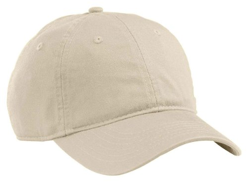 nic Cotton Twill Adjustable Baseball Hat (Oyster) (Bio Washed Twill Cap)