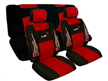 Amazon.com: A Set of Low Back Type R Flame Racing Style Front Bucket ...