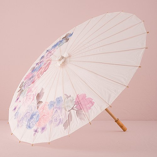 Weddingstar Inc. Paper Parasol with Vintage Floral Print ()