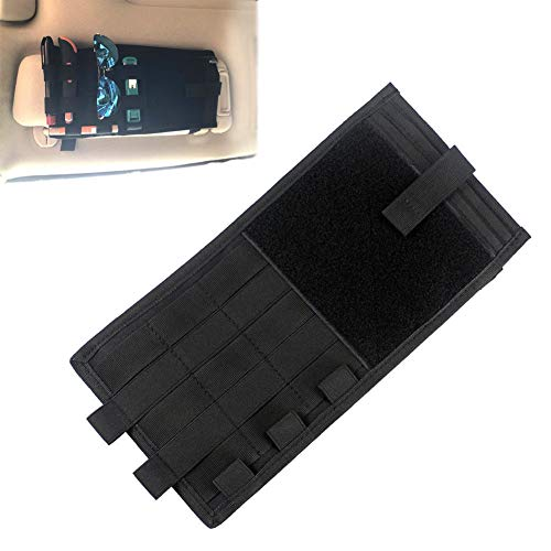 Tactical Molle Vehicle Visor Panel Storage Bag Truck Car Sun Visor Organizer CD Auto Accessories Holder Pouch Fits Most Vehicles