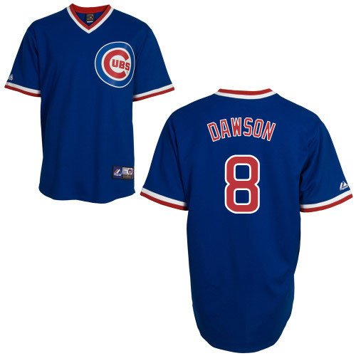 MLB Andre Dawson Chicago Cubs 1968-69 Cooperstown Adult Short Sleeve Synthetic Replica Jersey (Royal, Medium)