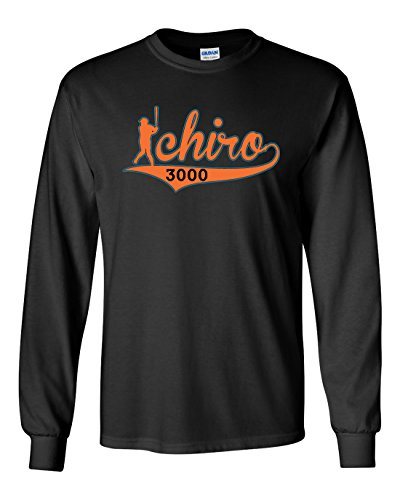 "The Silo LONG SLEEVE BLACK Miami Ichiro ""3000"" T-Shirt YOUTH"