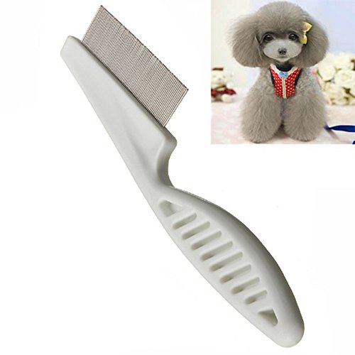 MyZenStore Dog Hair Brush Comb Hair Flea Cleaning Comb Stainless Steel Comb Dog Grooming Groom Brush
