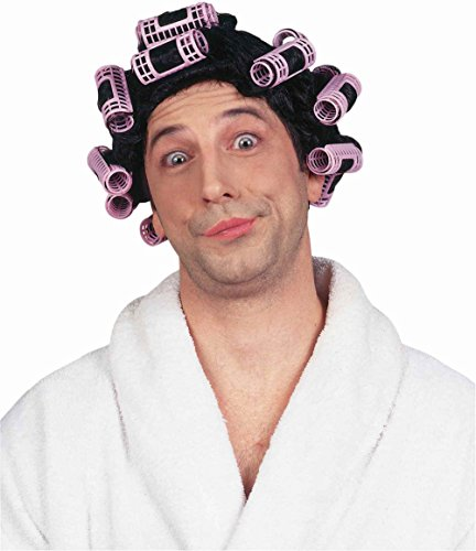 Forum Funny Crossdresser Curlers Housewife Adult Costume Wig (Wig With Curlers)