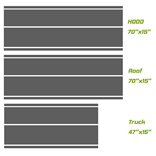 Universal fit for all cars 1Set/3Pairs Vinyl Racing Stripe